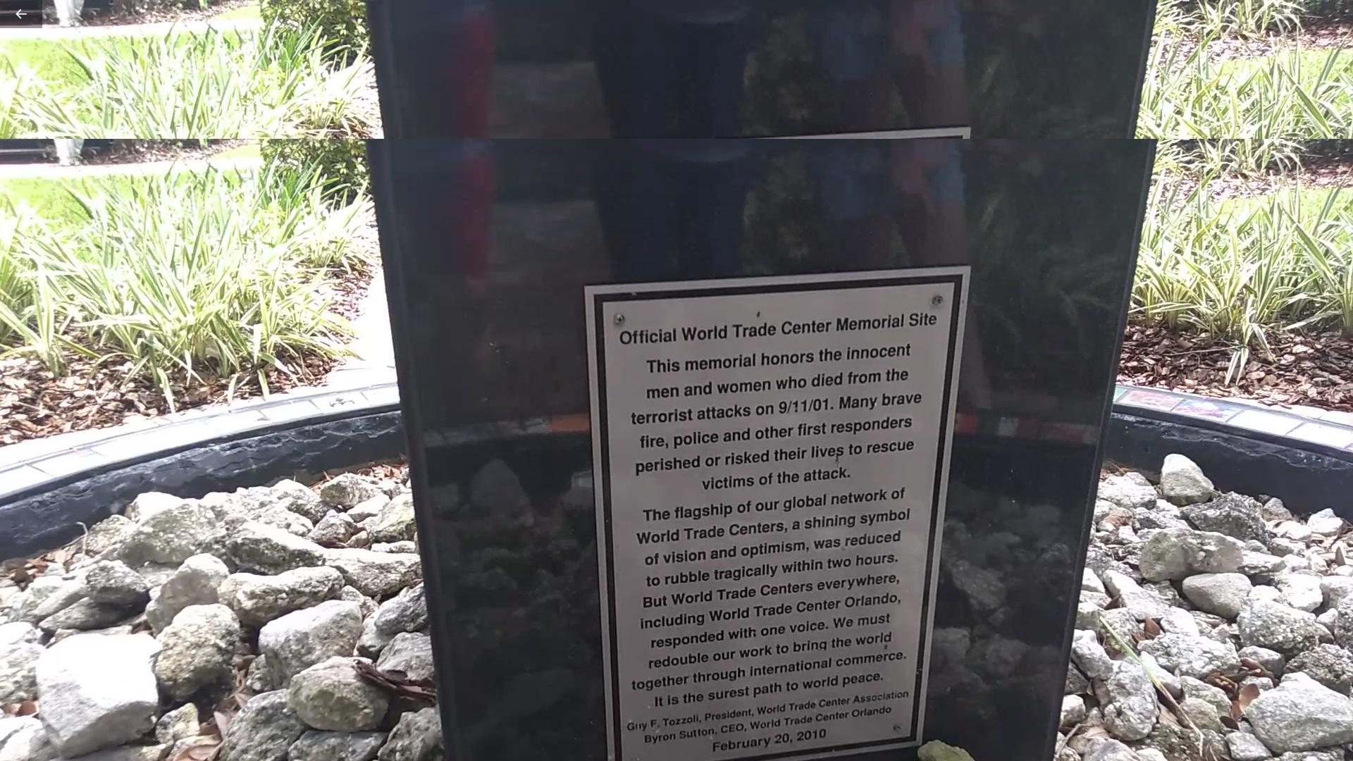 monumento em homenagem aos mortos do World Trade Center (WTC)